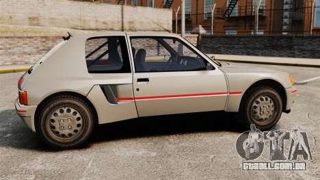 Peugeot 205 Turbo 16 para GTA 4 esquerda vista