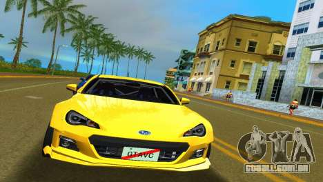 Subaru BRZ Type 5 para GTA Vice City deixou vista