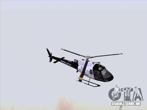 Police Maverick GTA 5 para GTA San Andreas esquerda vista