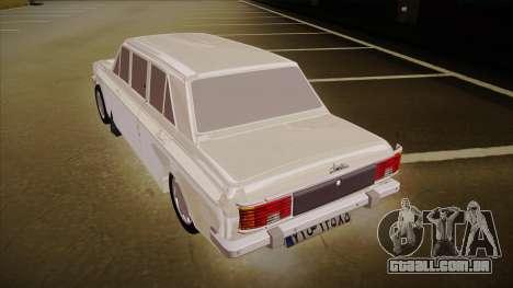 Paykan Limousine para GTA San Andreas vista traseira