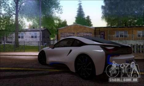 BMW I8 para GTA San Andreas esquerda vista