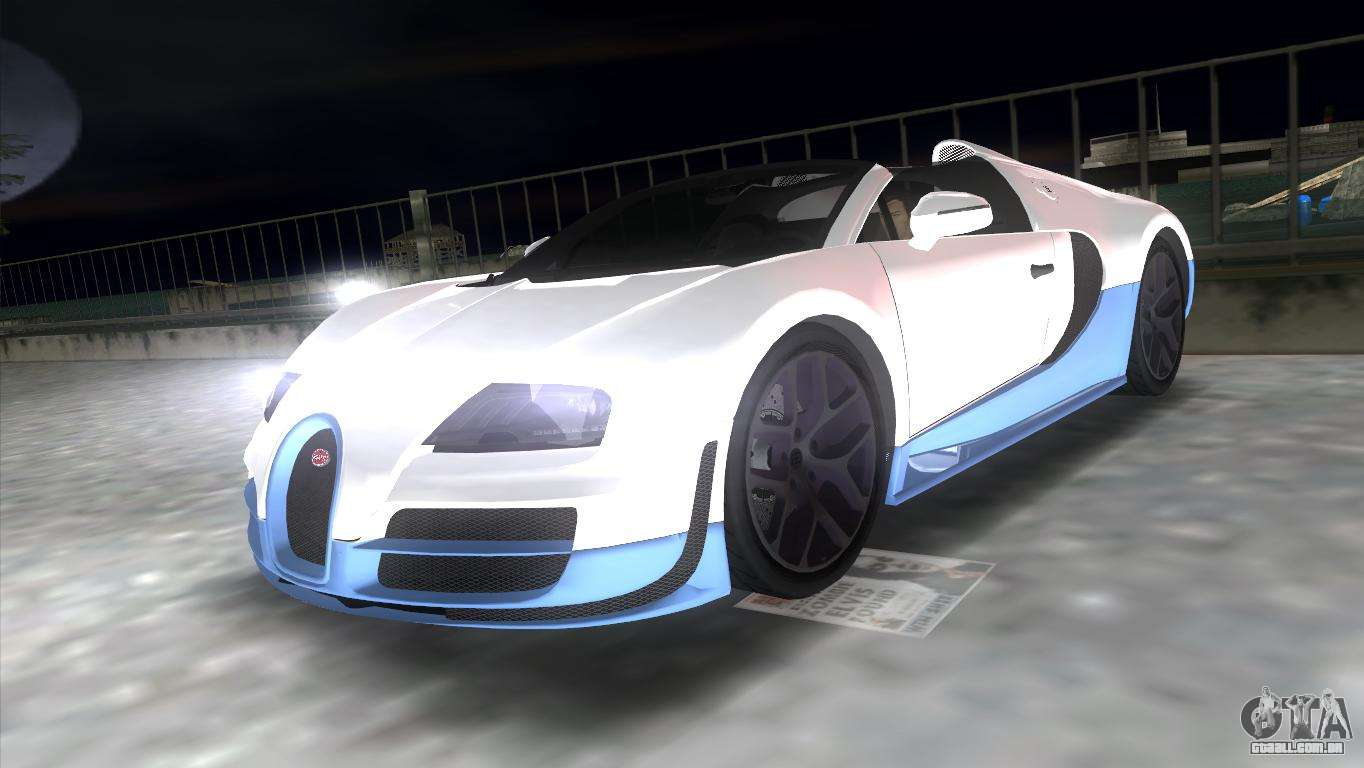 bugatti veyron grand sport vitesse para gta vice city. Black Bedroom Furniture Sets. Home Design Ideas