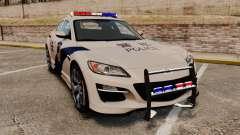 Mazda RX-8 R3 2011 Polícia купе para GTA 4