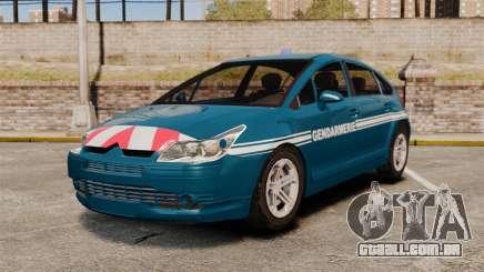 Citroen C4 Gendarmerie [ELS] para GTA 4