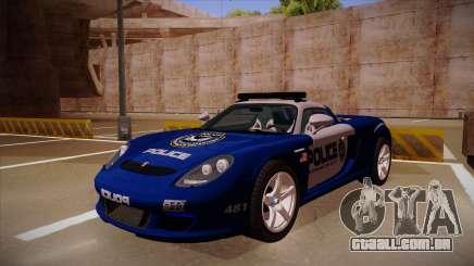 Porsche Carrera GT 2004 Police Blue para GTA San Andreas