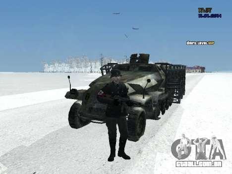 SdKfz 251 para GTA San Andreas vista traseira