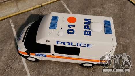Ford Transit 2013 Police [ELS] para GTA 4 vista direita