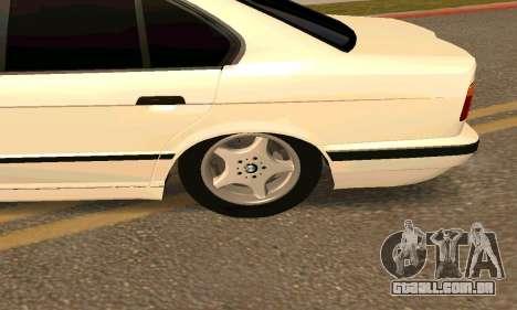 BMW 525 para GTA San Andreas traseira esquerda vista