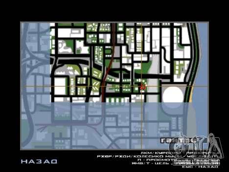Novo capô e ícones no mapa para GTA San Andreas por diante tela