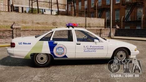 Chevrolet Caprice Police 1991 v2.0 N.o.o.s.e para GTA 4 esquerda vista