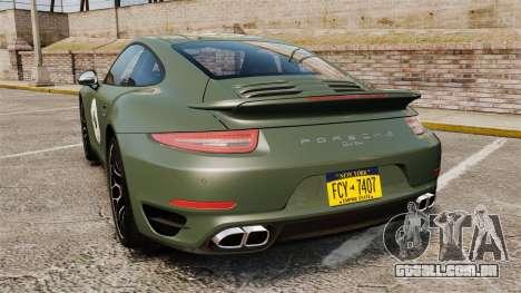Porsche 911 Turbo 2014 [EPM] Ghosts para GTA 4 traseira esquerda vista
