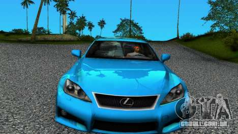 Lexus IS-F para GTA Vice City deixou vista