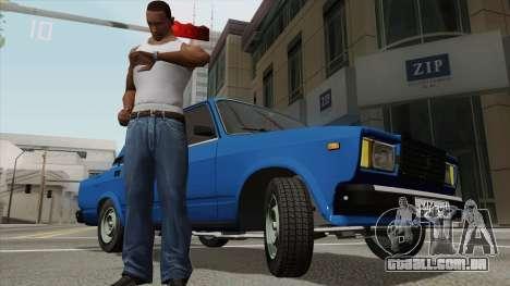 Ver a hora em um relógio de pulso para GTA San Andreas terceira tela