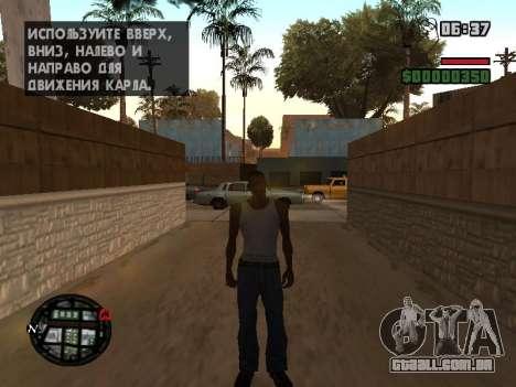 Novo capô e ícones no mapa para GTA San Andreas quinto tela