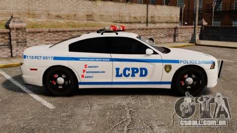 Dodge Charger 2012 LCPD [ELS] para GTA 4 esquerda vista