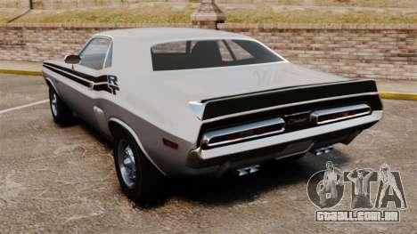 Dodge Challenger 1971 v1 para GTA 4 traseira esquerda vista