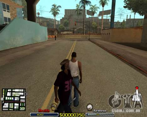 C-HUD by qrt para GTA San Andreas