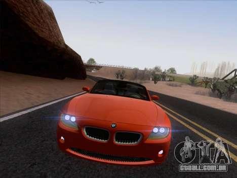 BMW Z4 Edit para GTA San Andreas vista traseira
