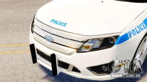 Ford Fusion LCPD 2011 [ELS] para GTA 4 vista de volta
