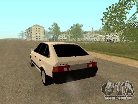 Moskvich 2141 para GTA San Andreas vista direita