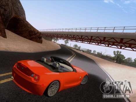 BMW Z4 Edit para GTA San Andreas traseira esquerda vista