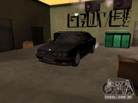 BMW 520i e34 para GTA San Andreas vista direita