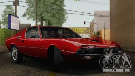 Alfa Romeo Montreal (105) 1970 para GTA San Andreas vista superior