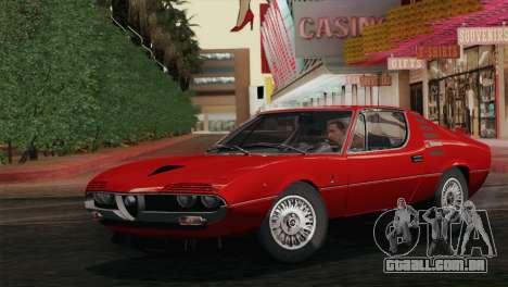 Alfa Romeo Montreal (105) 1970 para GTA San Andreas vista traseira