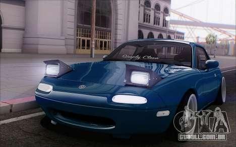 Mazda Miata para GTA San Andreas vista interior