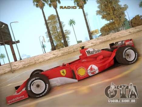 Ferrari F1 2005 para GTA San Andreas esquerda vista