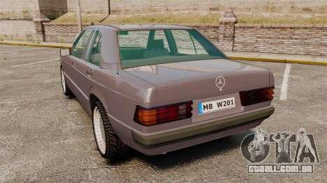 Mercedes-Benz E190 W201 para GTA 4 traseira esquerda vista