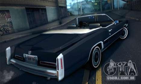 Cadillac Eldorado 1978 Convertible para GTA San Andreas esquerda vista