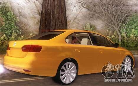 Volkswagen Vento 2012 para GTA San Andreas traseira esquerda vista