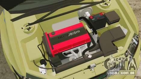 Mitsubishi Lancer Evolution IX 2006 tuning 2f2f para GTA 4 vista interior