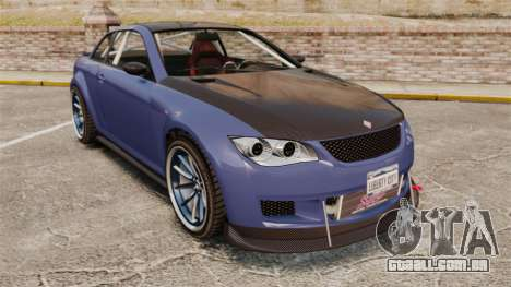 GTA V Sentinel XS Street Tuned Edit para GTA 4