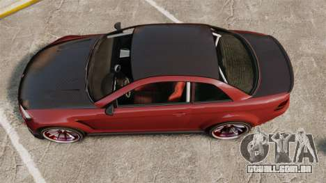 GTA V Sentinel XS Street Tuned Edit para GTA 4 vista direita