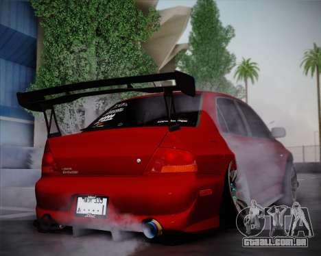 Mitsubishi Evolution VIII para GTA San Andreas vista direita