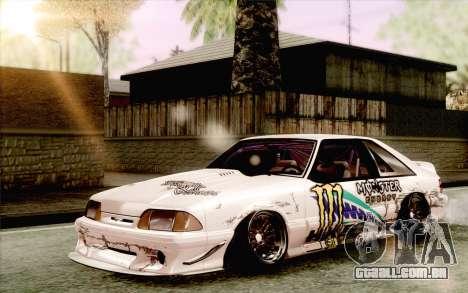 Ford Mustang SVT Cobra 1993 Drift para GTA San Andreas