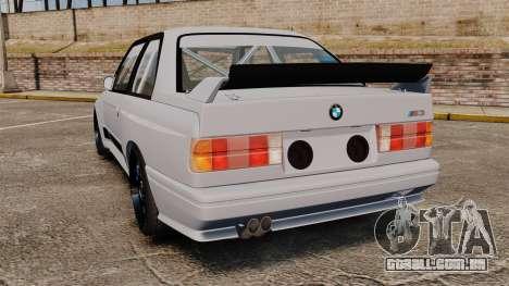 BMW M3 1990 Race version para GTA 4 traseira esquerda vista