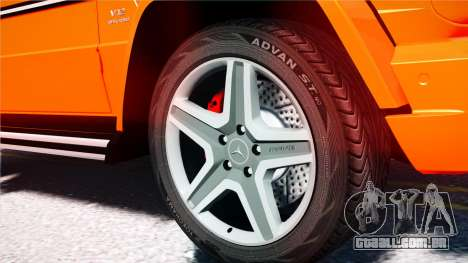 Mercedes-Benz G65 AMG 2013 para GTA 4 vista de volta