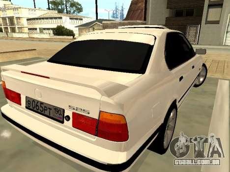 BMW 525 E34 para GTA San Andreas traseira esquerda vista