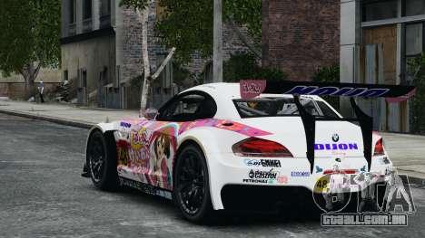 BMW Z4 GT3 2010 para GTA 4 vista superior