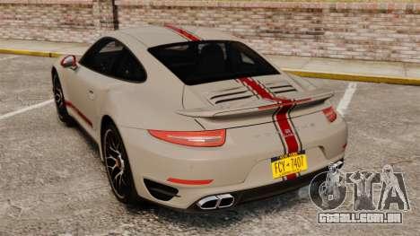 Porsche 911 Turbo 2014 [EPM] TechArt Design para GTA 4 traseira esquerda vista