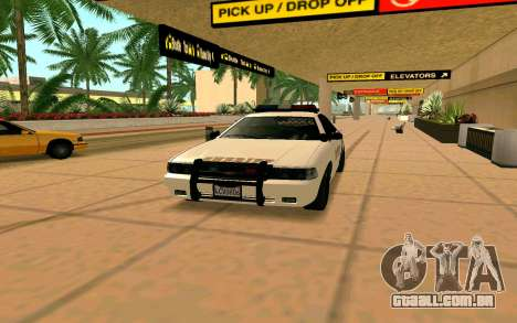 GTA V Sheriff Cruiser para GTA San Andreas traseira esquerda vista