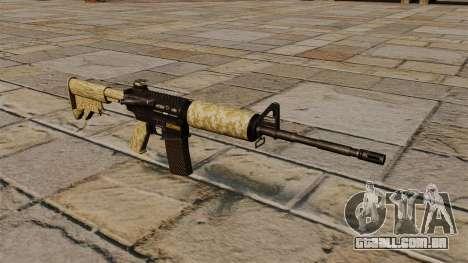 Carabina automática M4A1 deserto para GTA 4