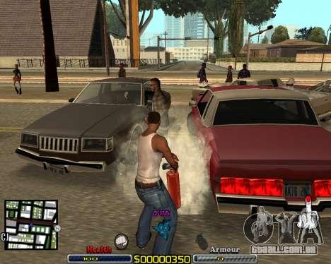 C-HUD by qrt para GTA San Andreas segunda tela