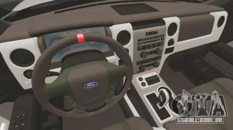 Ford SVT Raptor 2012 para GTA 4 vista interior