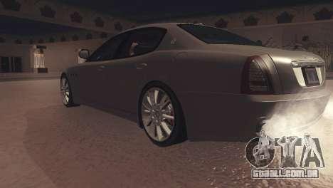 Maserati Quattroporte 2012 para GTA San Andreas vista traseira