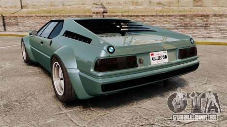 BMW M1 [EPM] para GTA 4 traseira esquerda vista