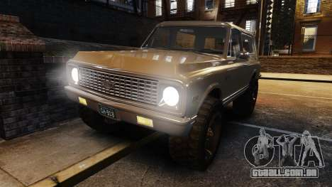 Chevrolet Blazer K5 1972 para GTA 4 vista inferior